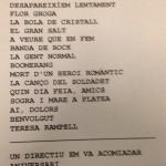 Repertori concert Manel a Sabadell