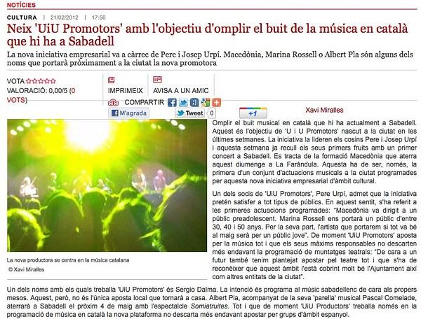 Ràdio Sabadell: Presentació UiU
