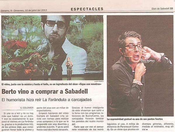 Diari de Sabadell: Berto vino a comprar a Sabadell