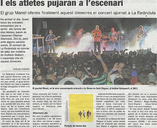 Diari de Sabadell: I els atletes pujaran a l'escenari