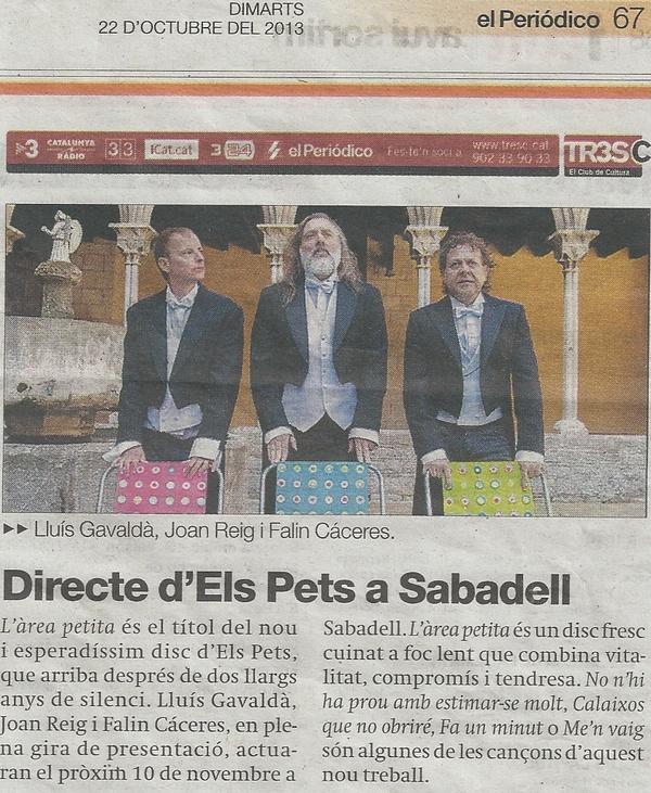 El periódico: Directe d'Els Pets a Sabadell