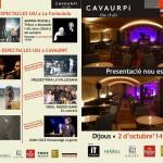 Presentació CAVAURPÍ, Programa de ma, exterior