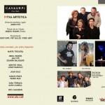 Presentació CAVAURPÍ, Programa de ma, interior