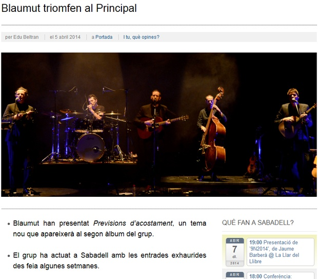iSabadell: Blaumut triomfen al Principal