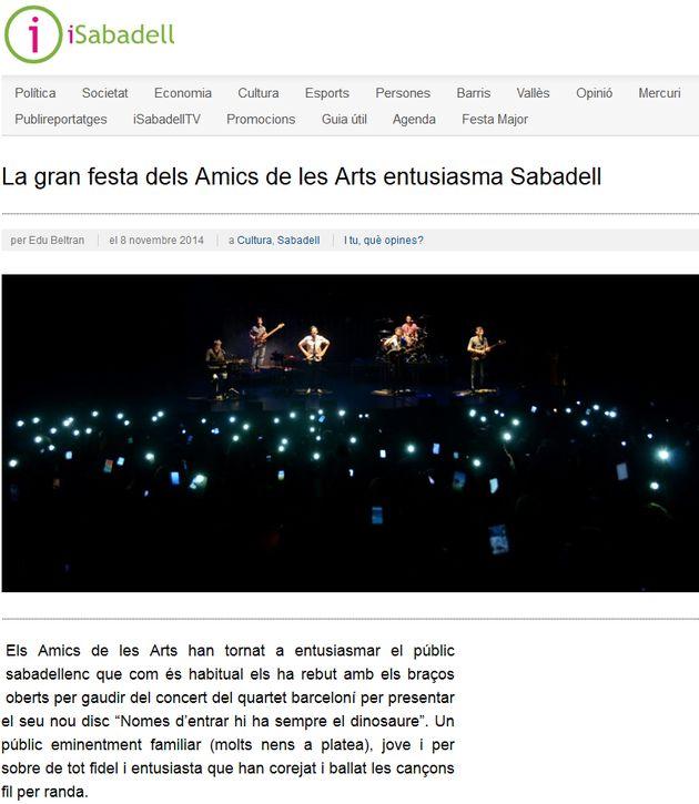 iSabadell: La gran festa dels Amics de les Arts entusiasma SBD