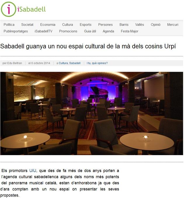 iSabadell: Sabadell guanya un nou espai cultural de la mà d'UiU