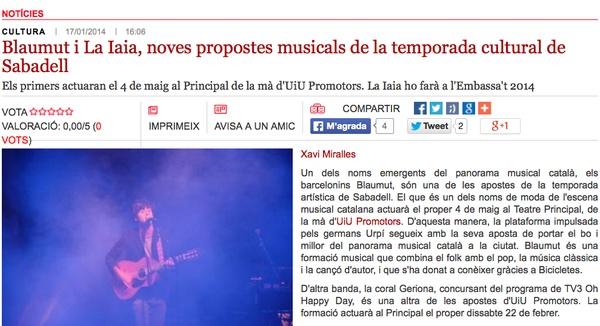 Ràdio Sabadell: Blaumut i la Iaia, noves propostes culturals a SBD
