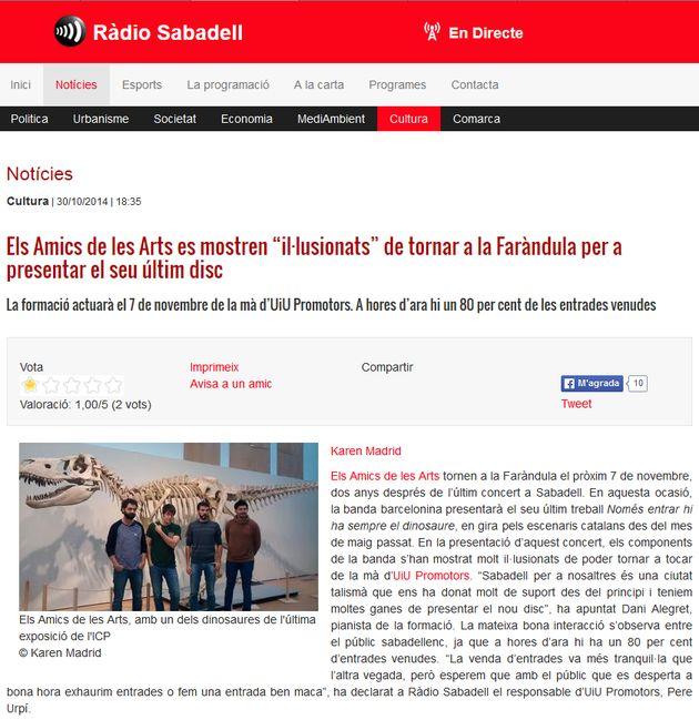 """Ràdio Sabadell: Els Amics de les Arts """"il·lusionats"""" de tornar a SBD"""