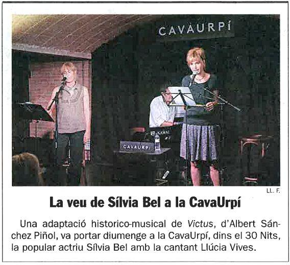 Diari de Sabadell: La veu de Sílvia Bel a la CAVAURPÍ