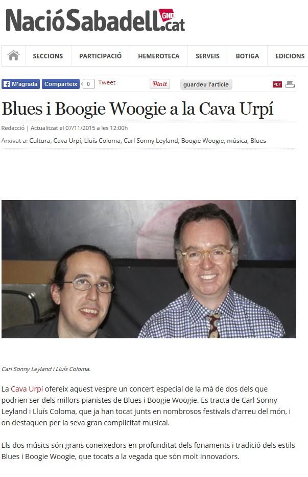 Nació Digital: Blues i Boogie Woogie a la CAVAURPÍ