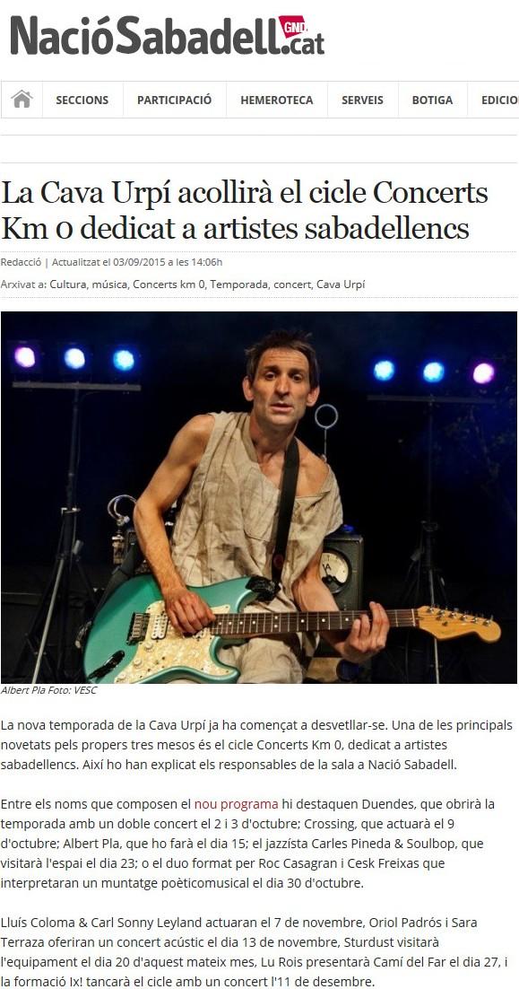 Nació Digital: CAVAURPÍ inicia el cicle de concerts Km 0