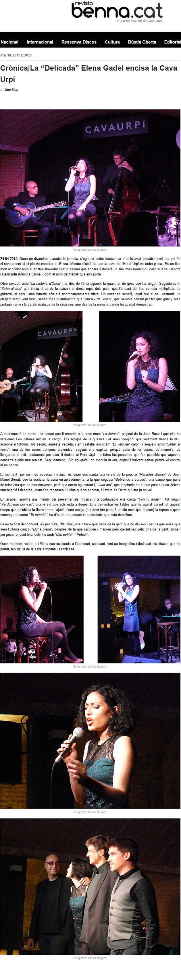Revista Benna: Crònica concert Elena Gadel