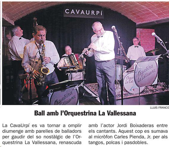 Diari de Sabadell: Ball amb l'Orquestrina La Vallesana