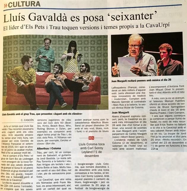 "Diari de Sabadell: Lluís Gavaldà es posa ""seixanter"""