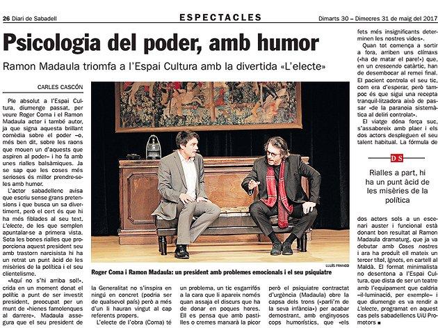 Diari de Sabadell: Psicologia del poder, amb humor