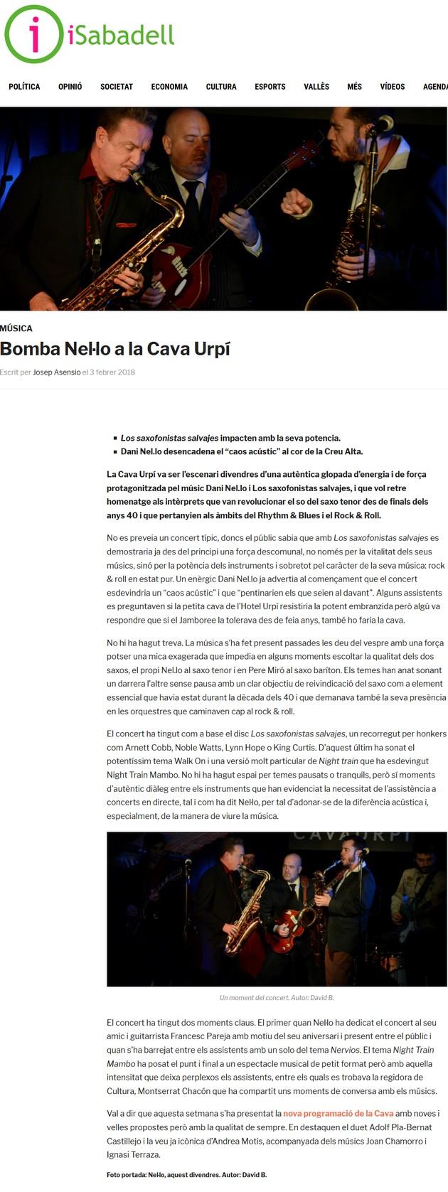 iSabadell: Bomba Nel·lo a la Cava Urpí